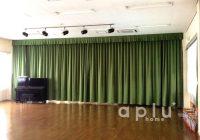 柏市 松葉幼稚園様 ホールのカーテン