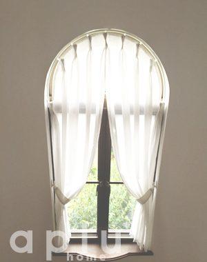 松戸市八ヶ崎 ST様邸 アーチ窓のレースカーテン