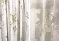 クリーンな雰囲気が魅力!ボタニカルテイストのカーテン