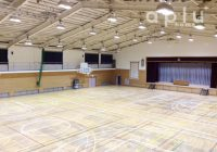 松戸市内 体育館の暗幕カーテン
