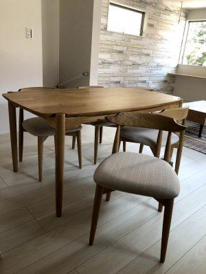 【オーク材 家具】天然木ダイニングセットのご紹介