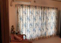 同じ部屋で2種類のカーテンを使用しました